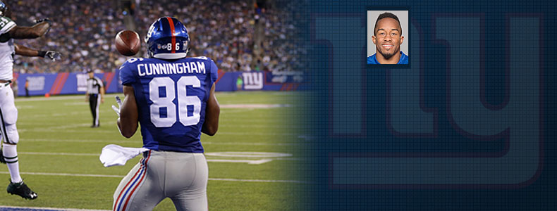 Giants Tight End is #86 Jerome Cunningham